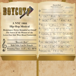 Boycott Beef - Music Stand Graphic