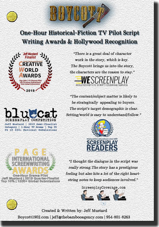 Boycott One Sheet Awards Page Back