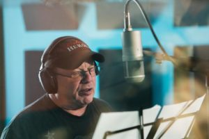 Avi Hoffman, actor/singer, recording music written by Jeff Mustard for his TV Series/B'Way-style Musical - Boycott - inspired by the 1902 Kosher Beef Boycott