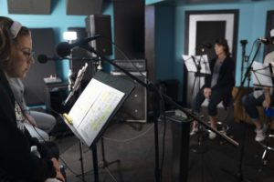"""Full Female Ensemble cast in studio recording tracks for TV Show Series Creator, Writer/Producer, Jeff Mustard and the musical adaption of his show, """"Boycott,"""" inspired by the real-life events of the 1902 Kosher Beef Boycott."""