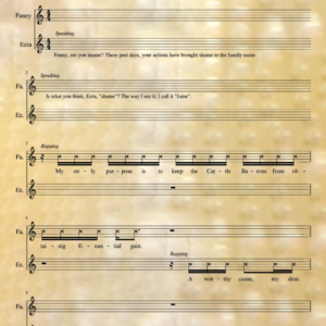Step Aside - Music Stand - Right - Graphic